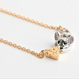 Kate Spade Year of the Rat Mouse & Cheese Necklace